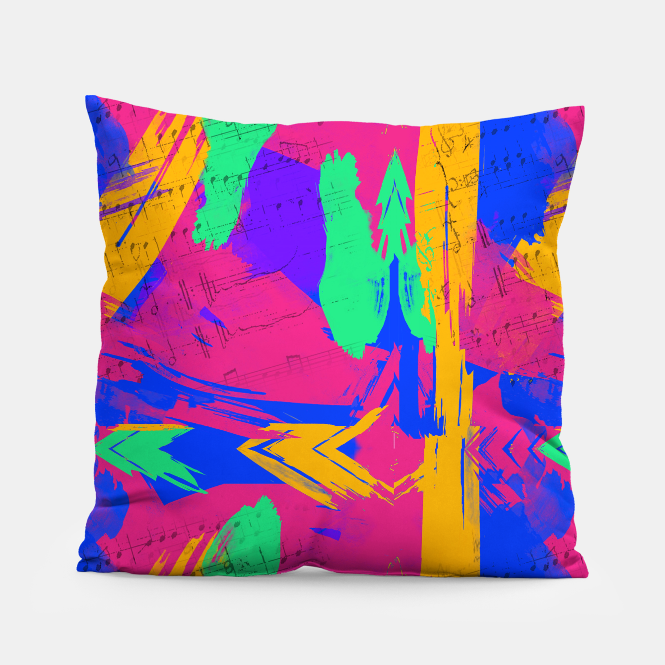 Image of Paint Brush Strokes Pillow - Live Heroes