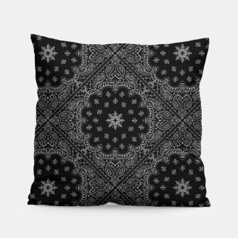 Black and White Bandanna Squares Pillow thumbnail image