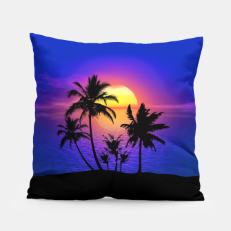 Tropical Island Sunset Pillow thumbnail image