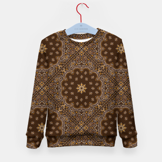 Brown Bandanna Squares Kid's sweater thumbnail image