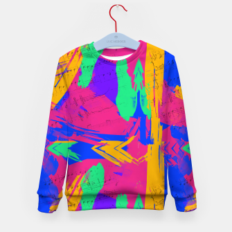 Thumbnail image of Paint Brush Strokes Kid's sweater, Live Heroes