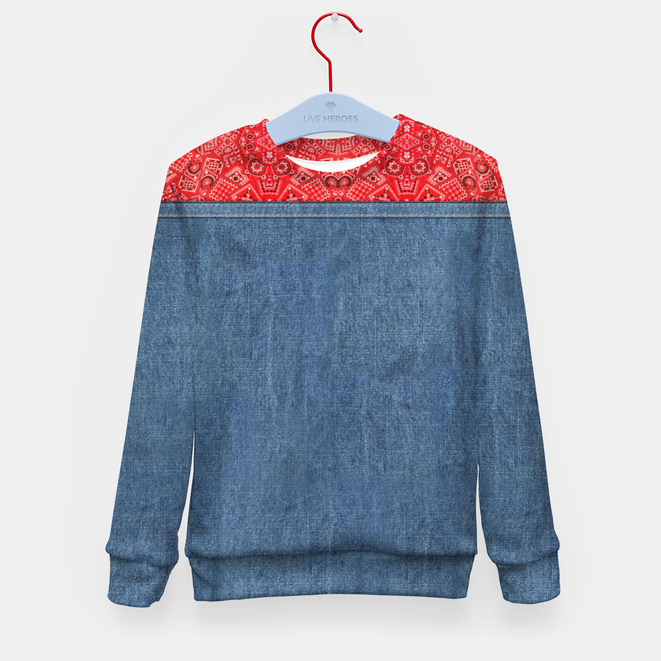Image of Denim Look and Bandanna Kid's sweater - Live Heroes
