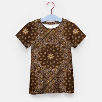 Brown Bandanna Squares Kid's t-shirt thumbnail image