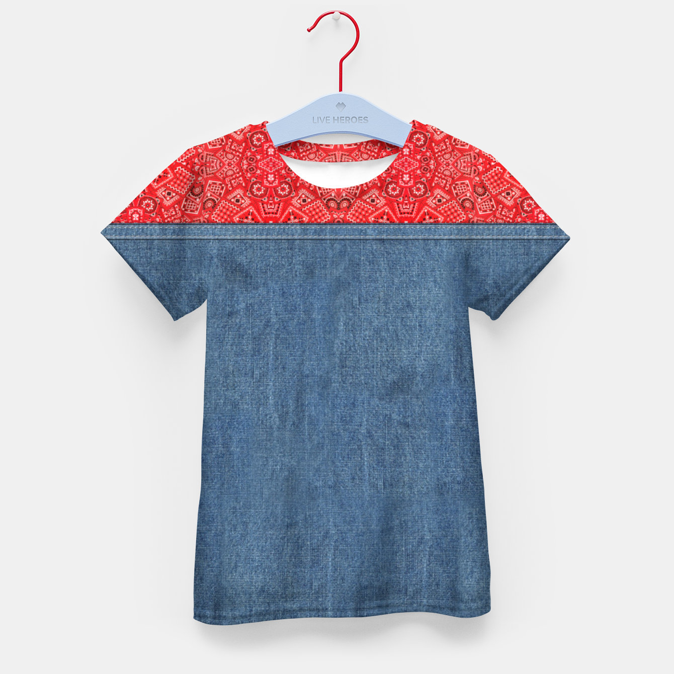 Image of Denim Look and Bandanna Kid's t-shirt - Live Heroes