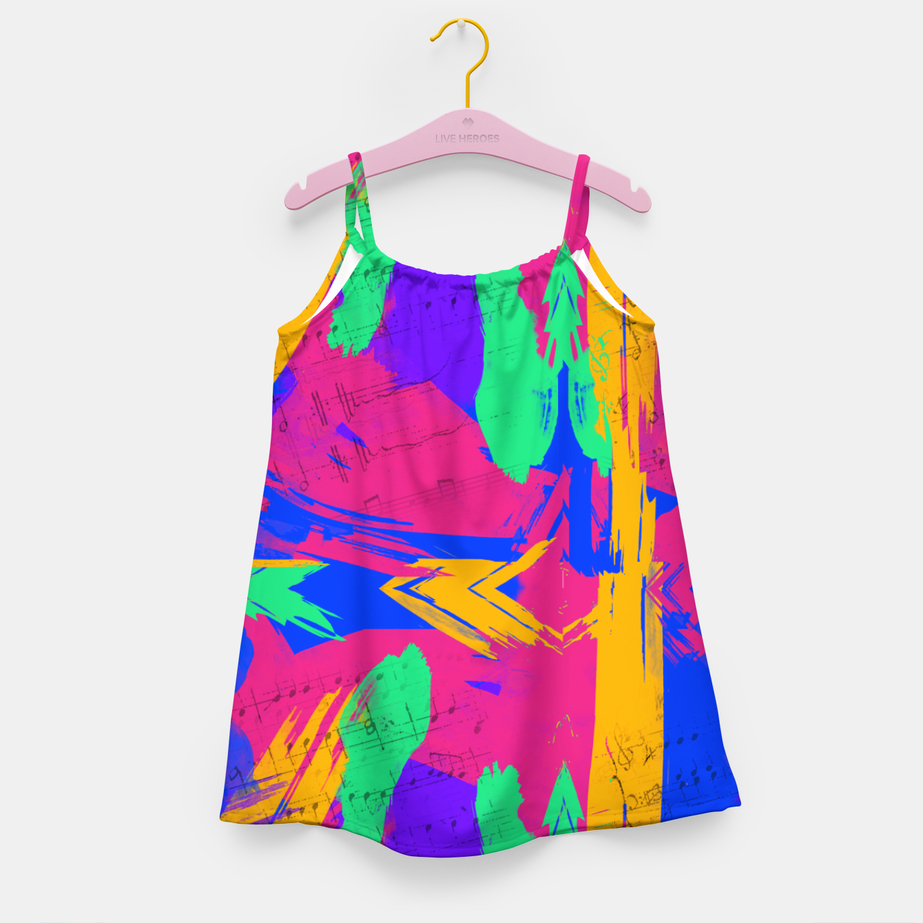 Image of Paint Brush Strokes Girl's dress - Live Heroes