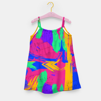 Miniatur Paint Brush Strokes Girl's dress, Live Heroes