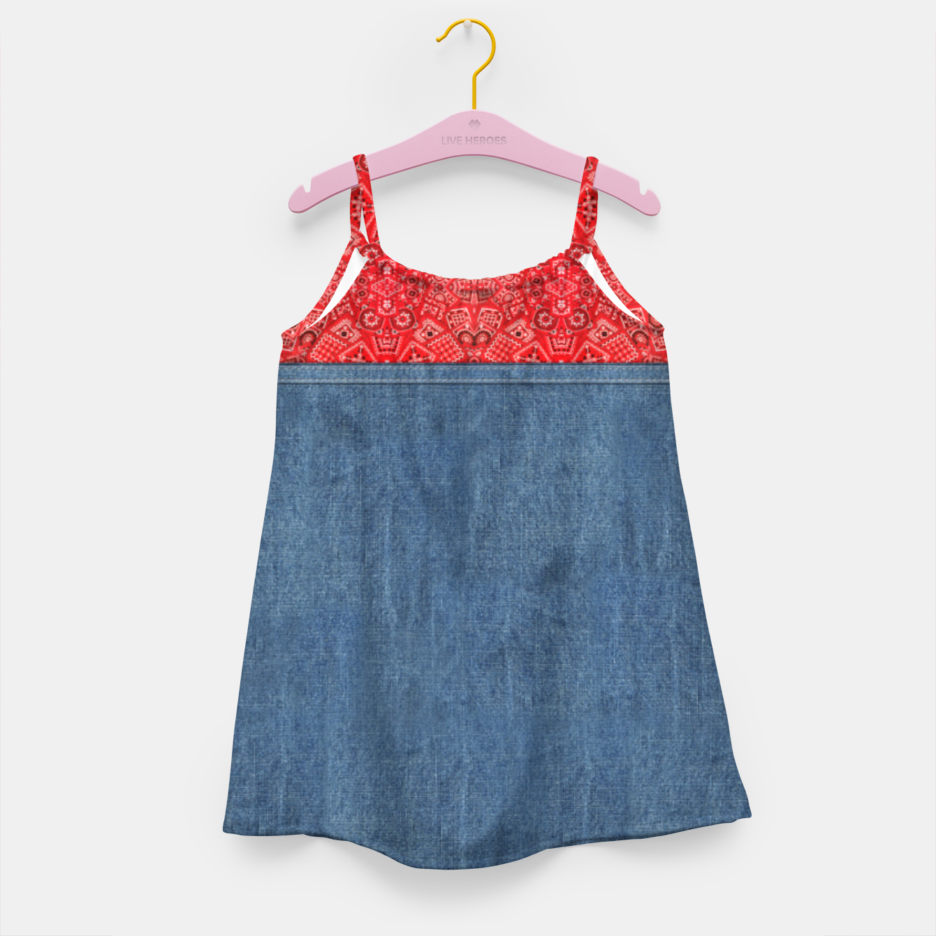 Image of Denim Look and Bandanna Girl's dress - Live Heroes