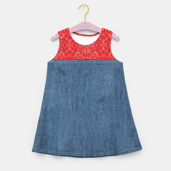 Miniatur Denim Look and Bandanna Girl's summer dress, Live Heroes