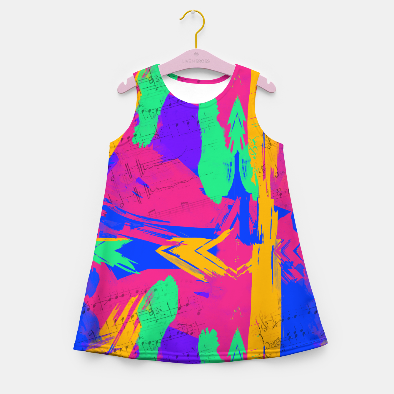 Image of Paint Brush Strokes Girl's summer dress - Live Heroes