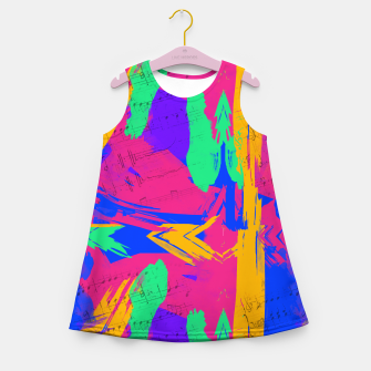 Miniatur Paint Brush Strokes Girl's summer dress, Live Heroes