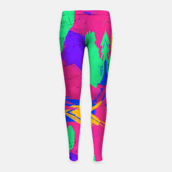 Thumbnail image of Paint Brush Strokes Girl's leggings, Live Heroes