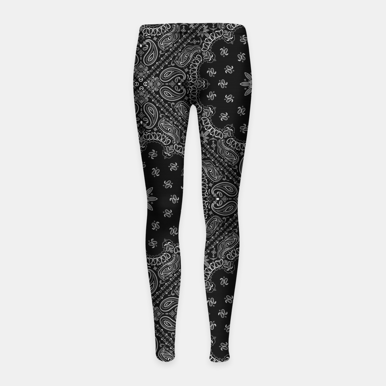 Image of Black and White Bandanna Squares Girl's leggings - Live Heroes