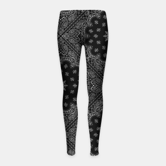 Thumbnail image of Black and White Bandanna Squares Girl's leggings, Live Heroes