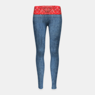 Thumbnail image of Denim Look and Bandanna Girl's leggings, Live Heroes