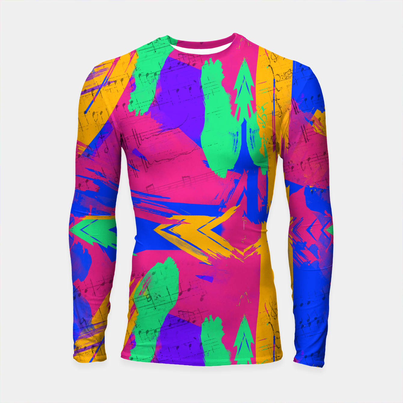 Image of Paint Brush Strokes Long Sleeve Rashguard - Live Heroes