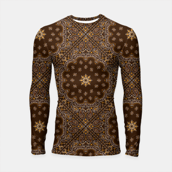 Thumbnail image of Brown Bandanna Squares Long Sleeve Rashguard, Live Heroes