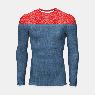 Thumbnail image of Denim Look and Bandanna Long Sleeve Rashguard, Live Heroes