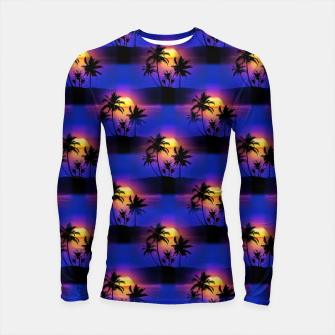Tropical Island Sunset Long Sleeve Rashguard thumbnail image