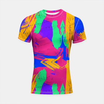 Thumbnail image of Paint Brush Strokes Short Sleeve Rashguard, Live Heroes