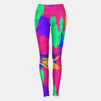 Thumbnail image of Paint Brush Strokes Leggings, Live Heroes