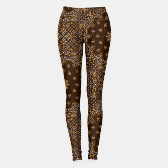 Thumbnail image of Brown Bandanna Squares Leggings, Live Heroes