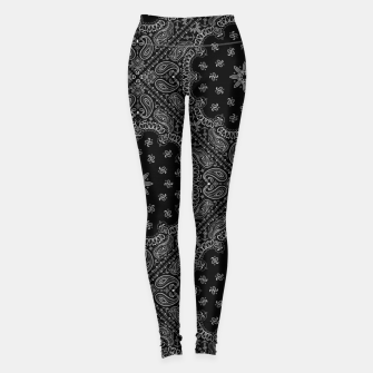 Miniatur Black and White Bandanna Squares Leggings, Live Heroes