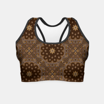 Thumbnail image of Brown Bandanna Squares Crop Top, Live Heroes