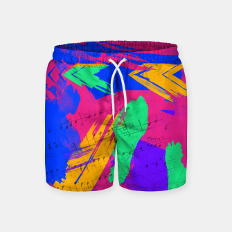 Miniatur Paint Brush Strokes Swim Shorts, Live Heroes