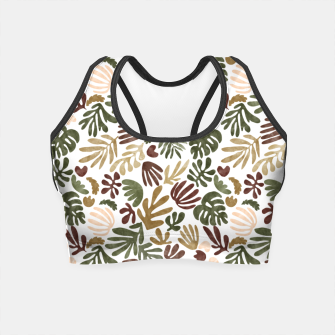 Thumbnail image of Matisse abstract jungle Crop Top, Live Heroes