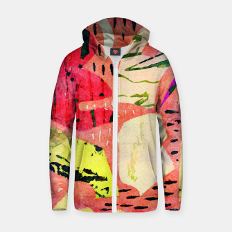 Thumbnail image of Thinking Zip up hoodie, Live Heroes