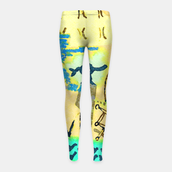 Thumbnail image of Peace in the Soul Girl's leggings, Live Heroes