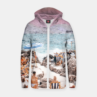 Thumbnail image of Beach Day II Zip up hoodie, Live Heroes