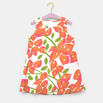 Miniaturka Bougainvillea Blush Girl's summer dress, Live Heroes
