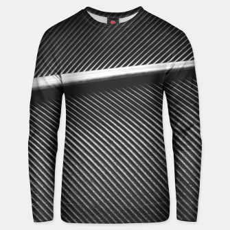 Thumbnail image of Elegant silver pigeon feather texture lines Unisex sweater, Live Heroes