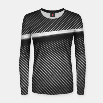 Thumbnail image of Elegant silver pigeon feather texture lines Women sweater, Live Heroes