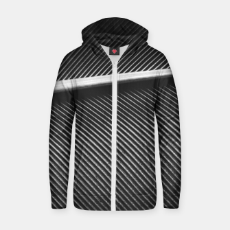 Thumbnail image of Elegant silver pigeon feather texture lines Zip up hoodie, Live Heroes