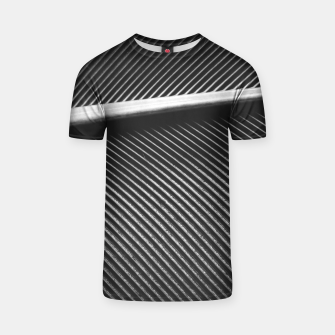 Thumbnail image of Elegant silver pigeon feather texture lines T-shirt, Live Heroes