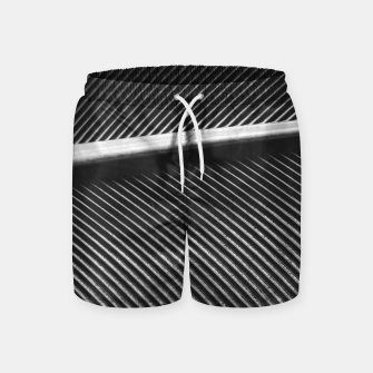 Thumbnail image of Elegant silver pigeon feather texture lines Swim Shorts, Live Heroes
