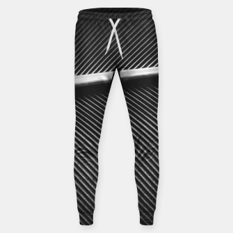 Elegant silver pigeon feather texture lines Sweatpants thumbnail image