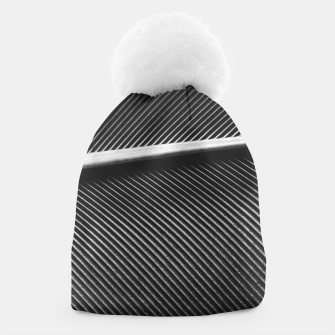 Thumbnail image of Elegant silver pigeon feather texture lines Beanie, Live Heroes