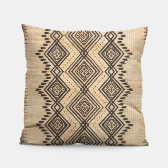 Miniatur African Moroccan Traditional Style Artwork Pillow, Live Heroes