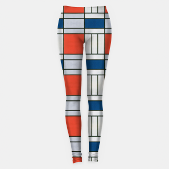 Thumbnail image of Colorful Retro Geometric Pattern Leggings, Live Heroes