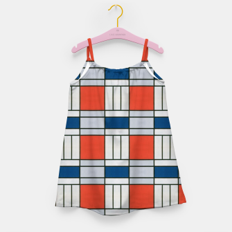 Thumbnail image of Colorful Retro Geometric Pattern Girl's dress, Live Heroes