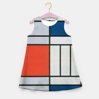 Thumbnail image of Colorful Retro Geometric Pattern Girl's summer dress, Live Heroes