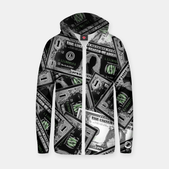 Thumbnail image of Money - Zip up hoodie, Live Heroes