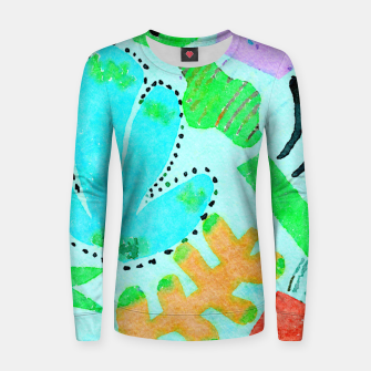 Thumbnail image of Happy Leaf Women sweater, Live Heroes