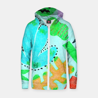 Thumbnail image of Happy Leaf Zip up hoodie, Live Heroes