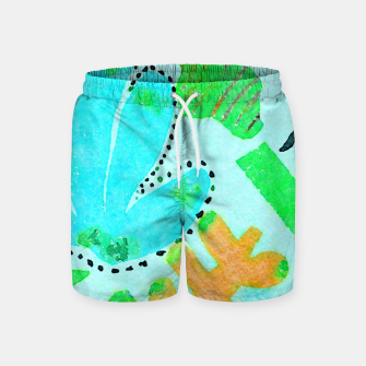 Thumbnail image of Happy Leaf Swim Shorts, Live Heroes