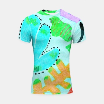 Thumbnail image of Happy Leaf Shortsleeve rashguard, Live Heroes