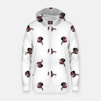 Thumbnail image of Ugly Monster Fish Drawing Zip up hoodie, Live Heroes